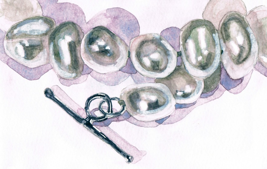 pearl bracelet watercolour