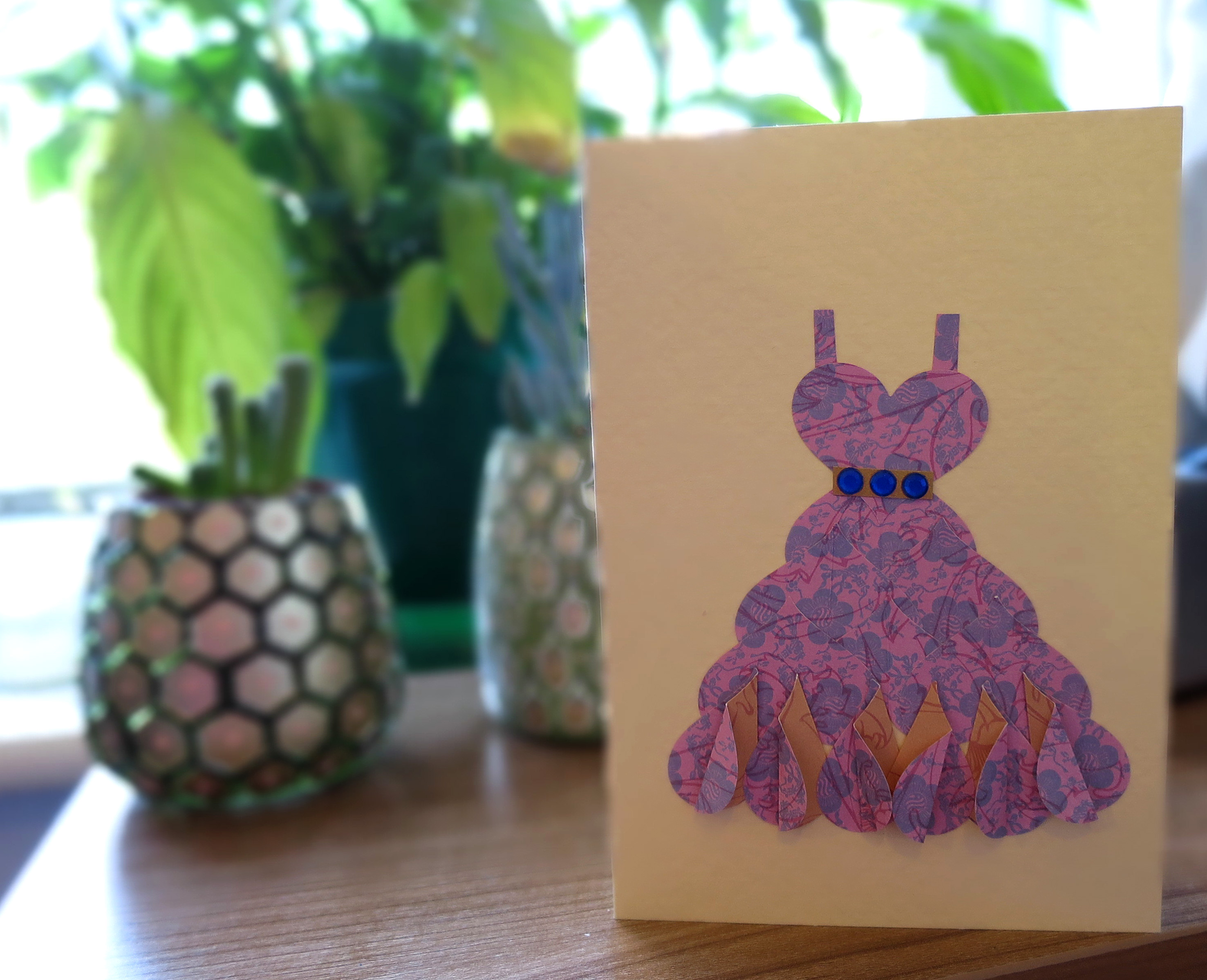 heart dress card
