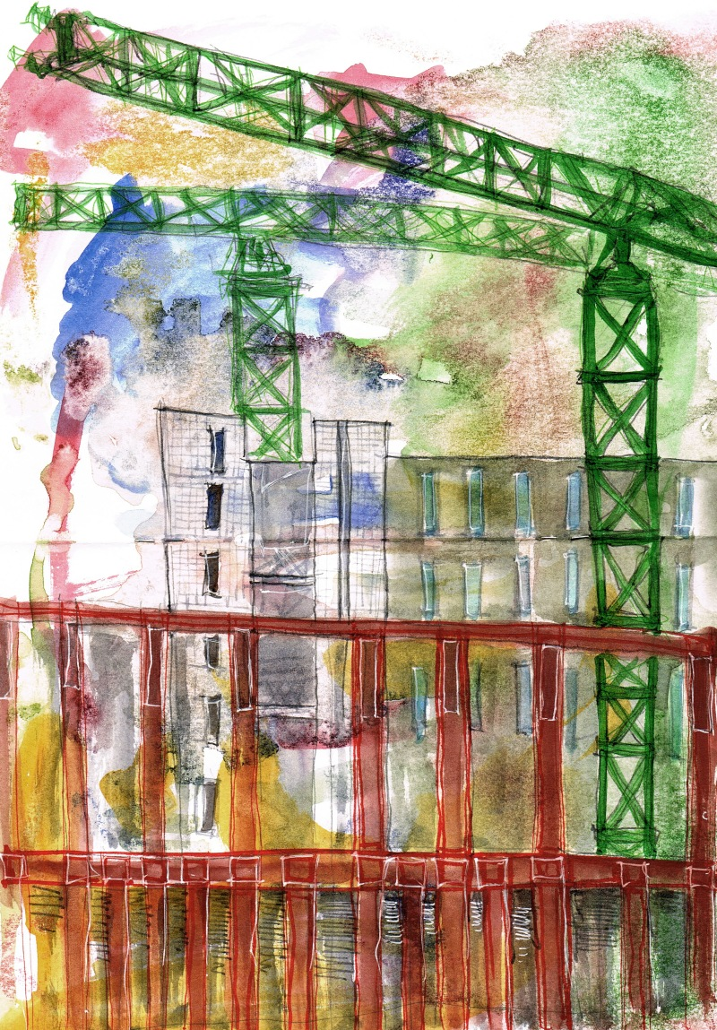 st pancras watercolour sketch 3