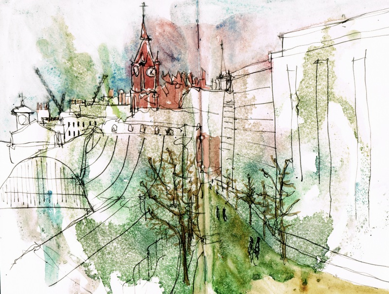 st pancras watercolour sketch 4