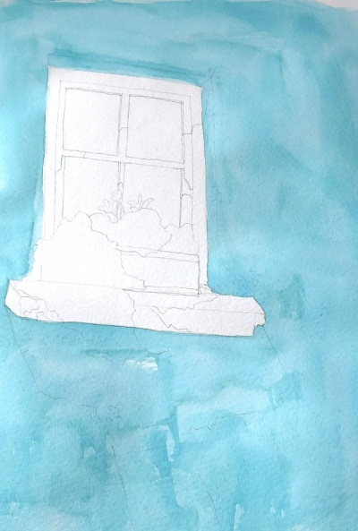 turquoise window watercolour (2)