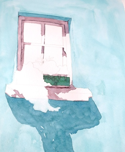 turquoise window watercolour (4)