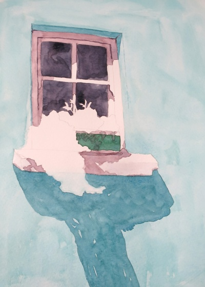 turquoise window watercolour (5)