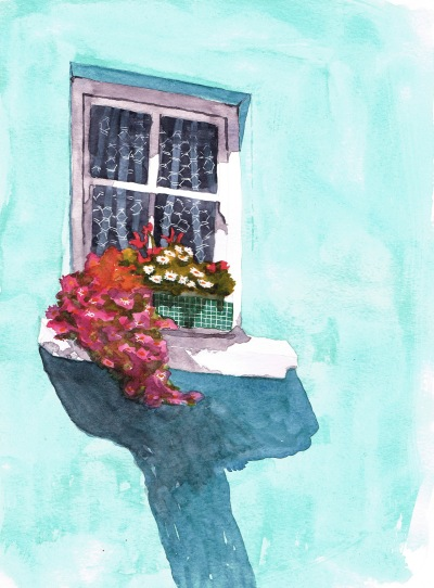 turquoise window watercolour (6)