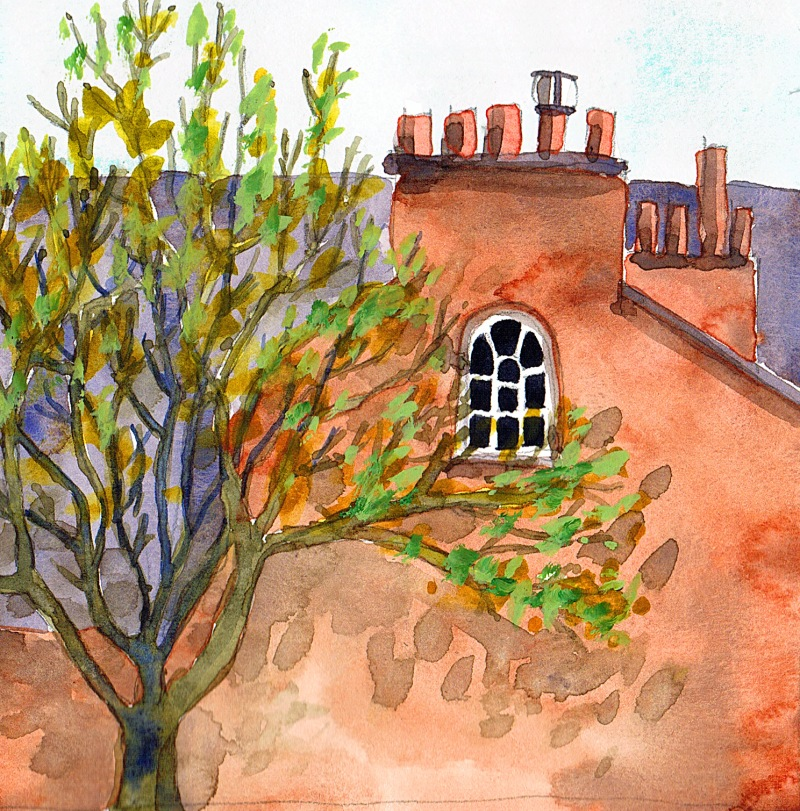 corner of oxford road watercolour
