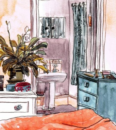en suite watercolour