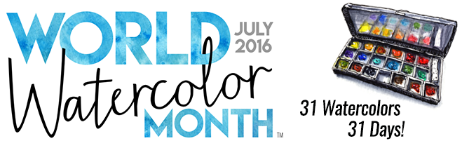 world watercolour month july 2016