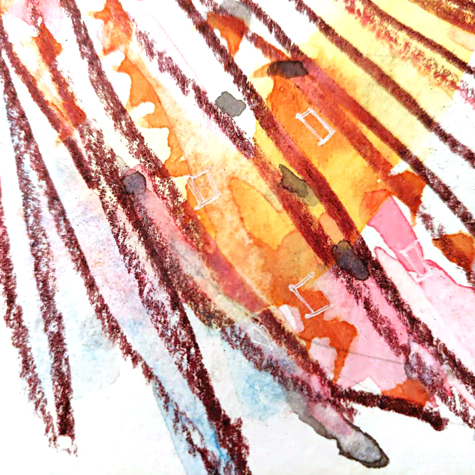 zebra lion fish watercolour illustration